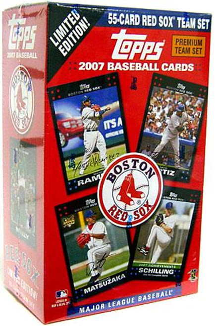 MLB 2007 Topps Baseball Cards Boston Red Sox Team Set
