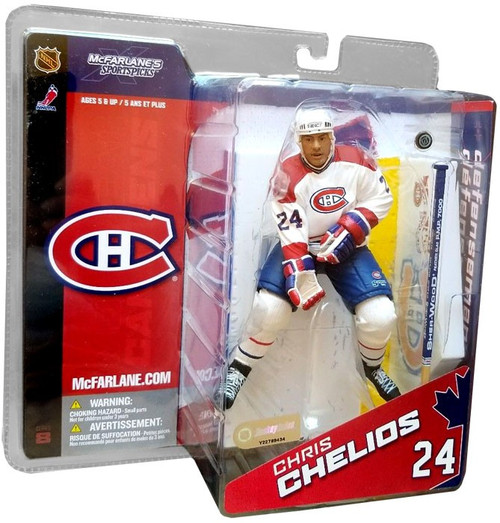 McFarlane Toys NHL Montreal Canadiens Sports Picks Series 8 Chris Chelios Exclusive Action Figure [White Jersey Variant]