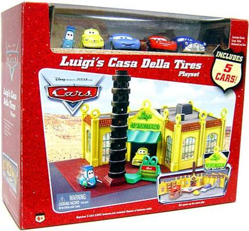 Disney Cars Playsets Luigi's Casa Della Tires Diecast Car Playset [With 5 Bonus Cars]