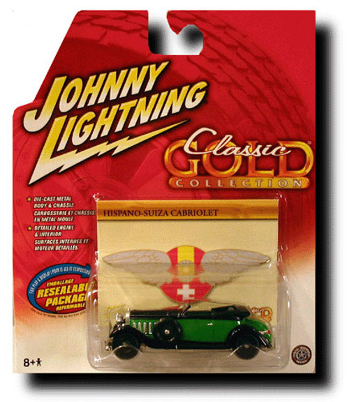 Johnny Lightning Classic Gold Collection Hispano-Suiza Cabriolet Diecast Car [Green]