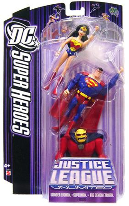 DC Justice League Unlimited Super Heroes Wonder Woman, Superman & Demon Etrigan Action Figures [Purple Card]