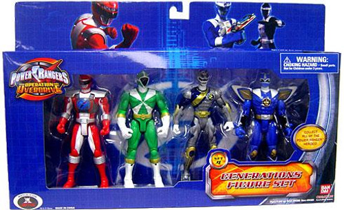 Power Rangers Operation Overdrive Generations Figure Set Exclusive [Set 4]