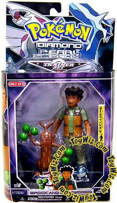 Pokemon Diamond & Pearl Trainer Sets Brock & Sudowoodo Exclusive Action Figure Set