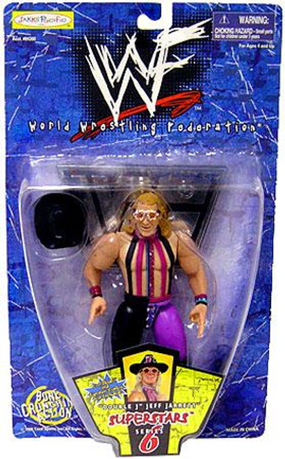 "WWE Wrestling WWF Superstars Series 6 ""Double J"" Jeff Jarrett Action Figure"