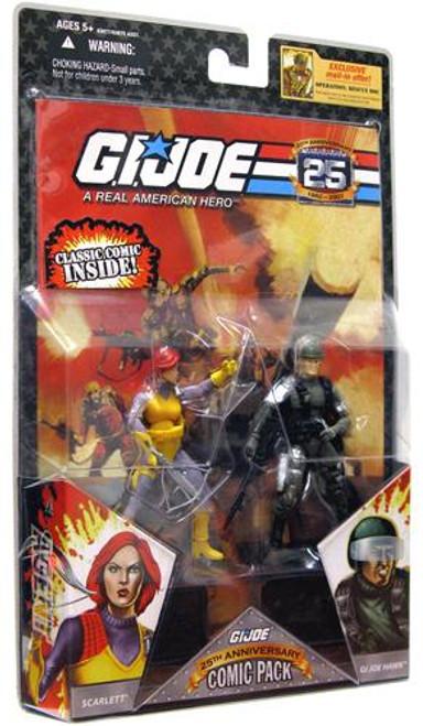 GI Joe 25th Anniversary Wave 1 Comic Pack Scarlett & Hawk Action Figure 2-Pack