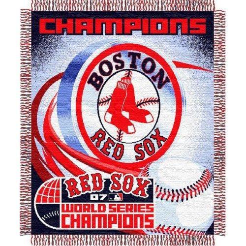 MLB Boston Red Sox Triple Woven Jacquard Throw [2007 World Series Champions]