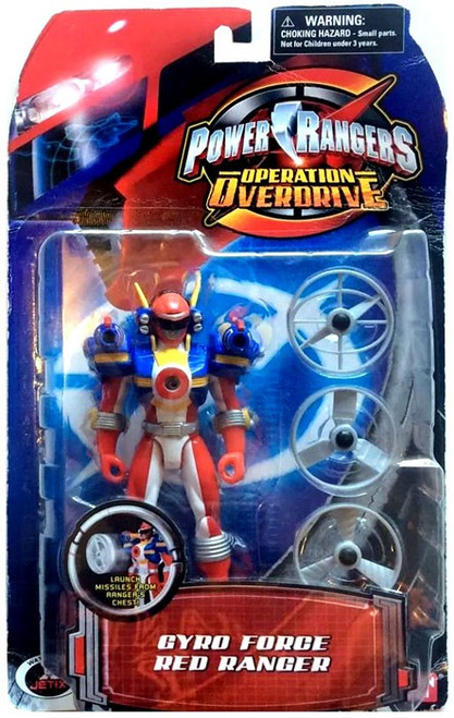 Power Rangers Operation Overdrive Gyro Force Red Ranger Action Figure