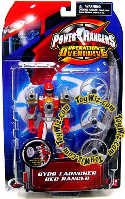 Power Rangers Operation Overdrive Gyro Launcher Red Ranger Action Figure