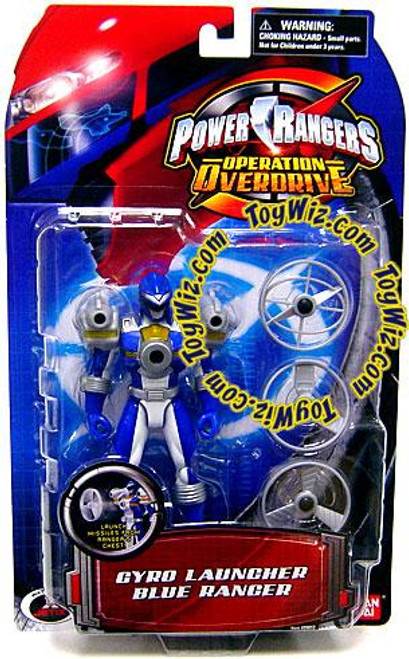 Power Rangers Operation Overdrive Gyro Launcher Blue Ranger Action Figure