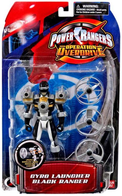 Power Rangers Operation Overdrive Gyro Launcher Black Ranger Action Figure