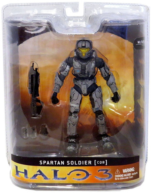 McFarlane Toys Halo 3 Series 1 Spartan Soldier CQB Exclusive Action Figure [Steel]