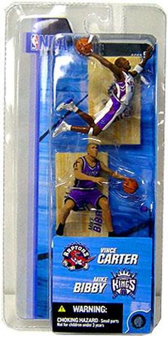 McFarlane Toys NBA Toronto Raptors / Sacramento Kings Sports Picks 3 Inch Mini Series 2 Vince Carter & Mike Bibby Mini Figure 2-Pack
