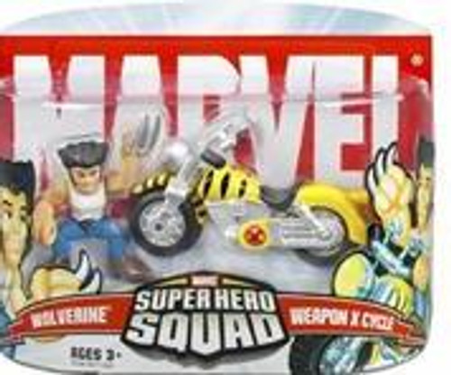 Marvel Super Hero Squad Series 5 Wolverine & Weapon X Cycle Action Figure 2-Pack