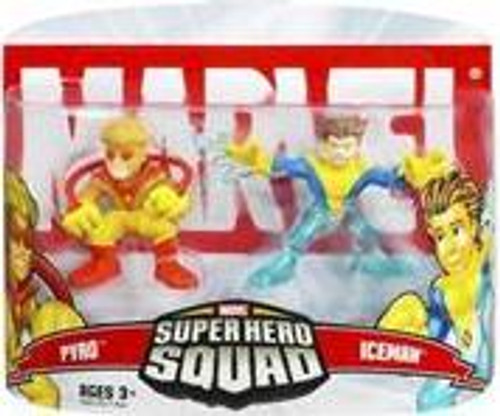 Marvel Super Hero Squad Series 5 Pyro & Iceman Action Figure 2-Pack