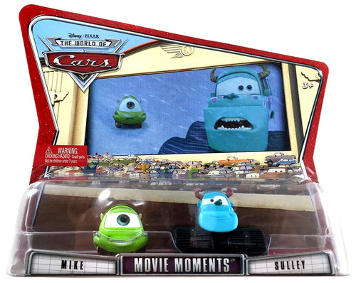 Disney Cars The World of Cars Movie Moments Mike & Sulley Diecast Car 2-Pack