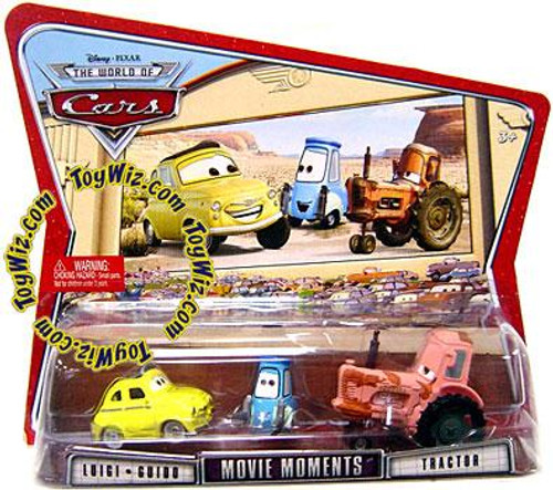 Disney Cars The World of Cars Movie Moments Luigi, Guido & Tractor Diecast Car 3-Pack