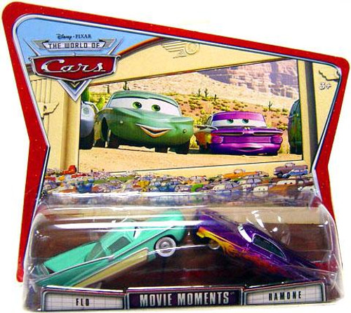 Disney Cars The World of Cars Movie Moments Flo & Ramone Diecast Car 2-Pack