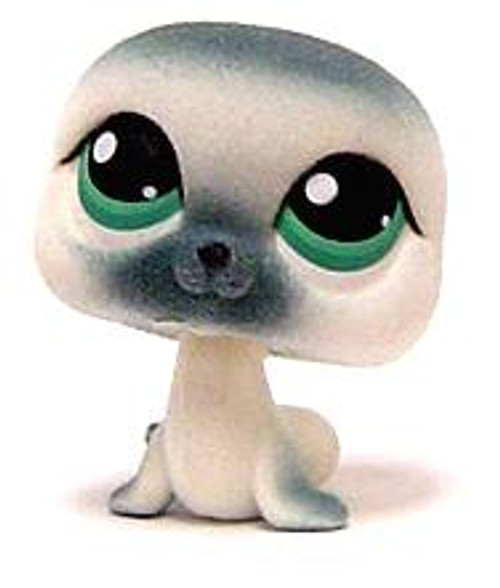 Littlest Pet Shop Seal Figure #399 [White Fuzzy Loose]