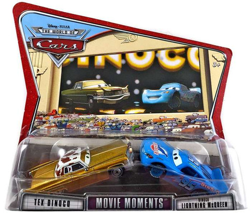 Disney Cars The World of Cars Movie Moments Tex Dinoco & Dinoco McQueen Diecast Car 2-Pack