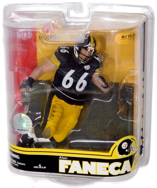 McFarlane Toys NFL Pittsburgh Steelers Sports Picks Series 16 Alan Faneca Action Figure [Black Jersey]