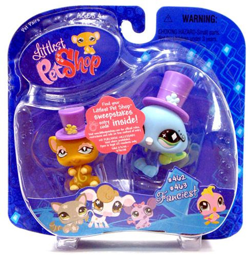 Littlest Pet Shop Pet Pairs Rat & Peacock Figure 2-Pack #462, 463