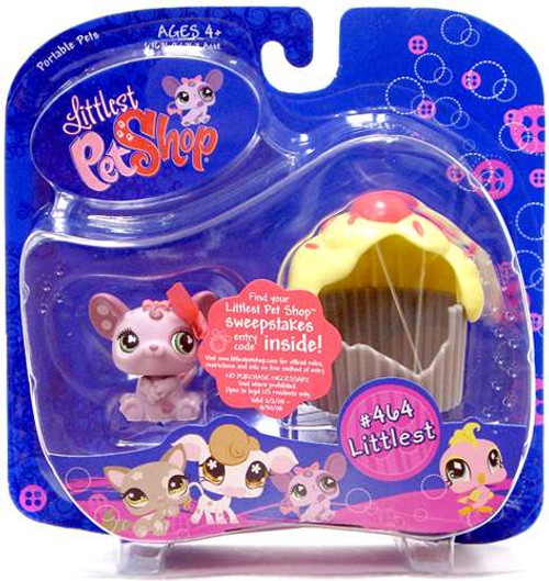 Littlest Pet Shop Portable Pets Mouse Figure #464 [Cupcake, Damaged Package]