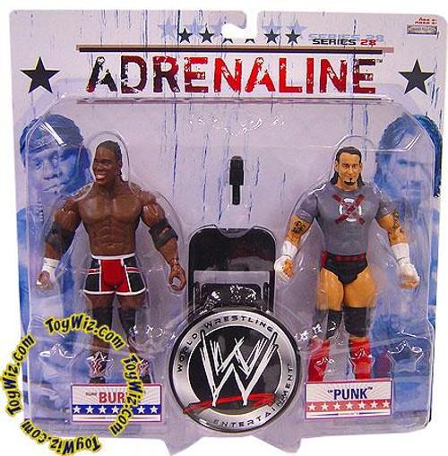 WWE Wrestling Adrenaline Series 28 CM Punk & Elijah Burke Action Figure 2-Pack