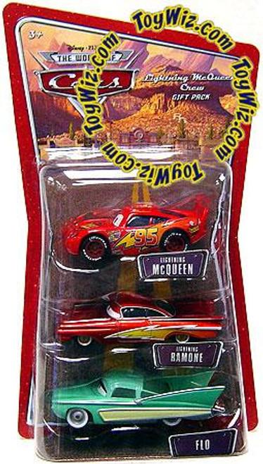 Disney Cars The World of Cars Multi-Packs Lightning McQueen Crew Gift Pack Diecast Car Set