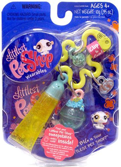 Littlest Pet Shop Wearables Tiniest Pet Shop Hamster Mini Figure [With Lip Gloss]