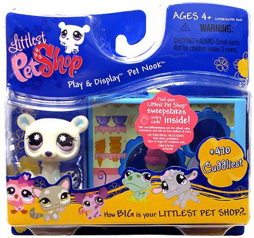 Littlest Pet Shop Pet Nook Series 3 Polar Bear Figure [Ice Cream Shop]