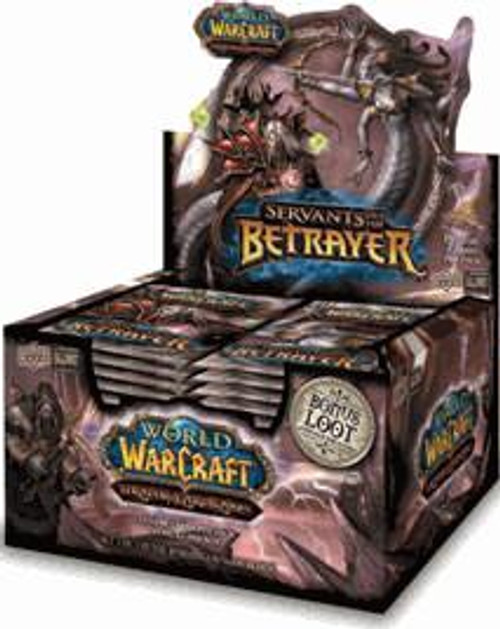 World of Warcraft Trading Card Game Servants of the Betrayer Booster Box [24 Packs]