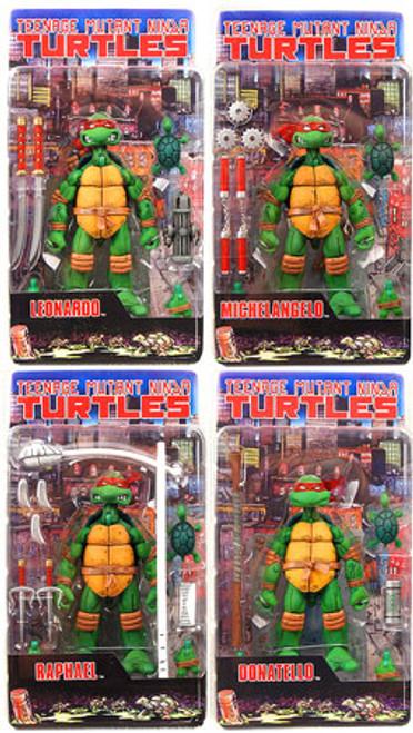 NECA Teenage Mutant Ninja Turtles Mirage Comic Leonardo, Donatello, Raphael & Michelangelo Action Figure Set