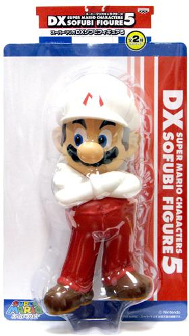 Super Mario DX Sofubi Series 5 Mario 9-Inch Vinyl Figure [Fire]