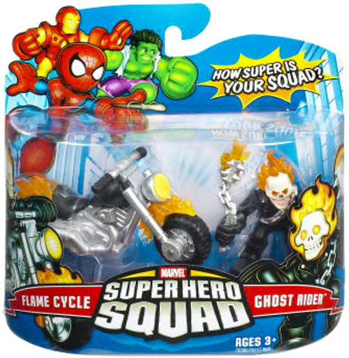 Marvel Super Hero Squad Series 7 Ghost Rider & Flame Cycle Action Figure 2-Pack