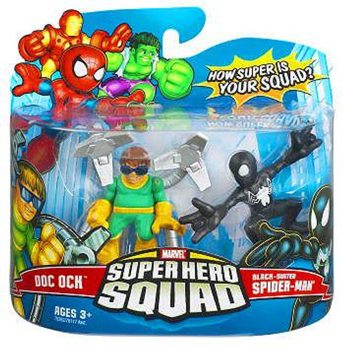 Marvel Super Hero Squad Series 6 Black-Suited Spider-Man & Doc Ock Action Figure 2-Pack
