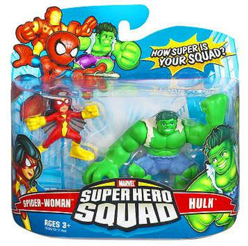 Marvel Super Hero Squad Series 6 Spider-Woman & Hulk Action Figure 2-Pack