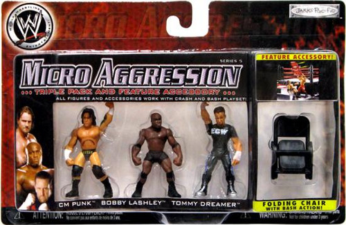 WWE Wrestling Micro Aggression Series 5 Mini Figure 3-Pack