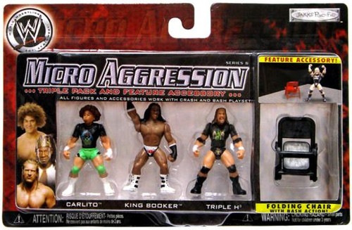 WWE Wrestling Micro Aggression Series 6 Mini Figure 3-Pack