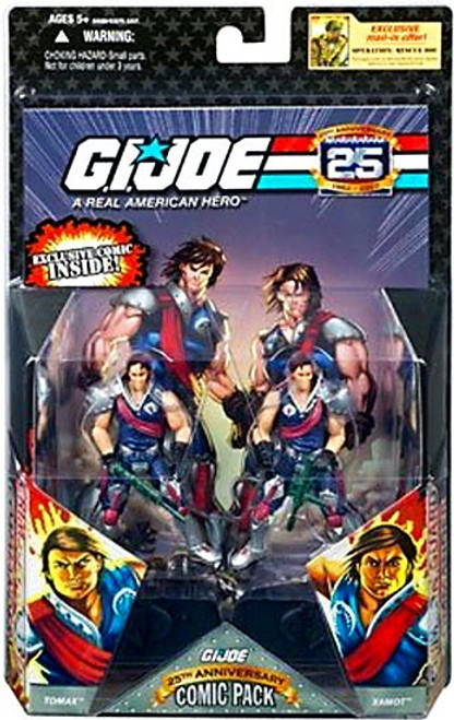 GI Joe 25th Anniversary Wave 3 Comic Pack Tomax & Xamot Action Figure 2-Pack