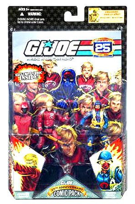 GI Joe 25th Anniversary Wave 3 Comic Pack Crimson Guard & Cobra Officer Action Figure 2-Pack
