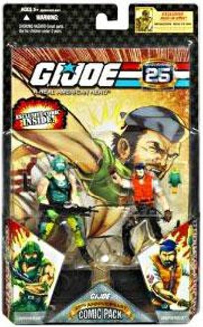GI Joe 25th Anniversary Wave 4 Comic Pack Shipwreck Vs. Copperhead Action Figure 2-Pack