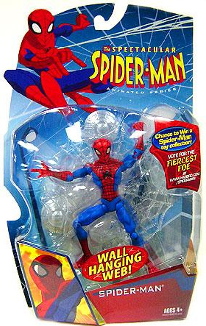 The Spectacular Spider-Man Animated Series Spider-Man Action Figure [Wall Hanging Web]
