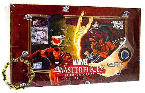 Skybox Marvel Masterpieces Series 2 Trading Card Box