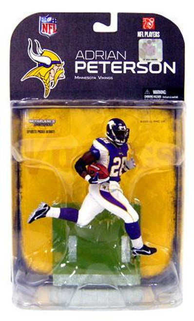 McFarlane Toys NFL Minnesota Vikings Sports Picks Series 18 Adrian Peterson Action Figure [White Wrist Tape]