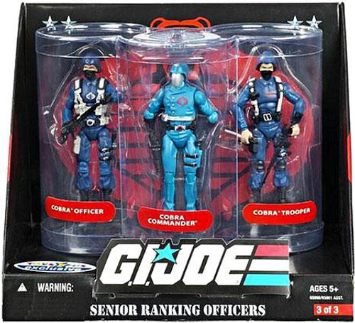 GI Joe Cobra Senior Ranking Officers Exclusive Action Figure Set [Blue]