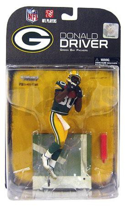McFarlane Toys NFL Green Bay Packers Sports Picks Series 19 Donald Driver Action Figure [Damaged Package]