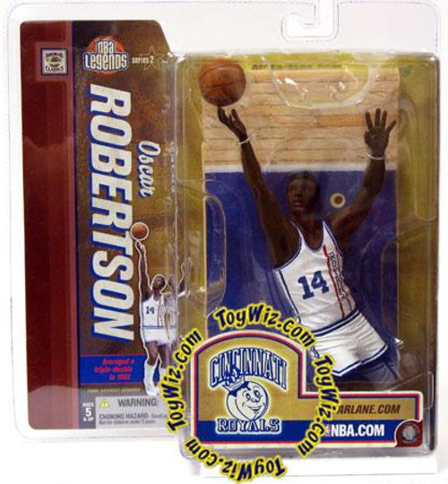 McFarlane Toys NBA Cincinnati Royals Sports Picks Legends Series 2 Oscar Robertson Action Figure [White Jersey Retro Variant]
