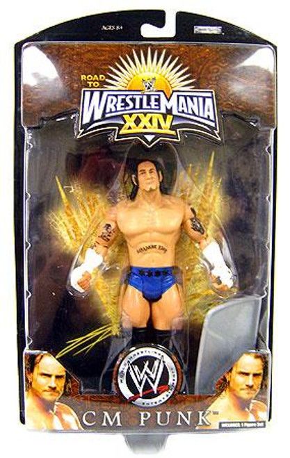 WWE Wrestling Road to WrestleMania 24 Series 1 CM Punk Exclusive Action Figure