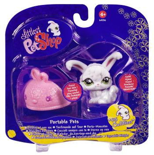 Littlest Pet Shop Portable Pets Angora Bunny Figure #515 [With Slipper]