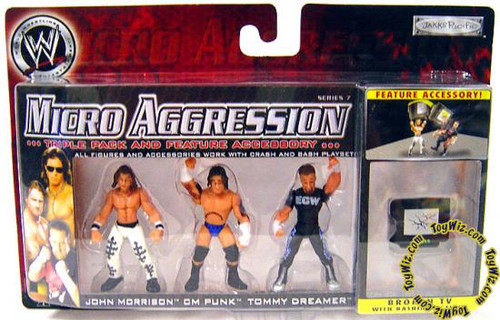 WWE Wrestling Micro Aggression Series 7 Mini Figure [Broken TV]